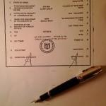 חותמת אפוסטיל עם עט